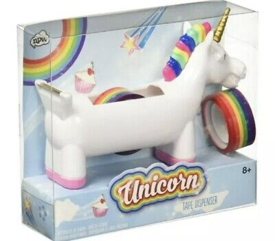 Unicorn Tape Dispenser 2 Rolls Rainbow Tape Free Shipping