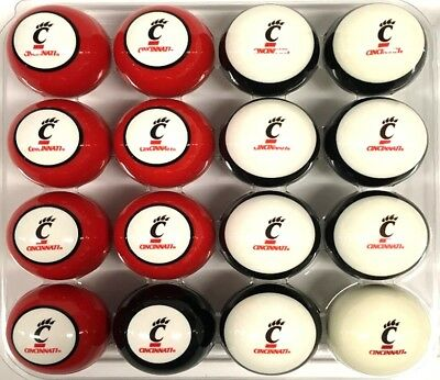 NCAA University of Cincinnati BearCats Numbered Collegiate Pool Ball Set ()
