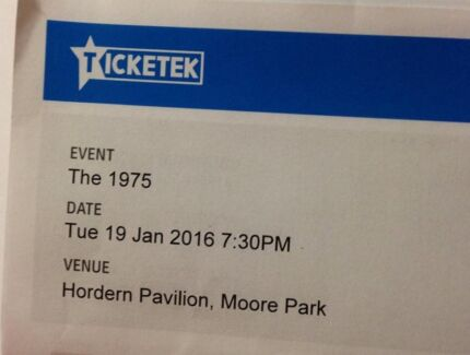 """FOR SALE 3 tickets to sold out """"The 1975"""" Sydney show Jan 19. Wollongong 2500 Wollongong Area Preview"""