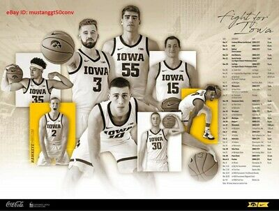 TWO (2) 2019-2020 IOWA HAWKEYES Basketball Poster *FAST SHIPPING*