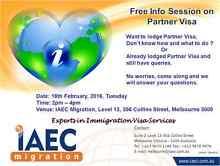 Free Info Session on Partner Visa Melbourne CBD Melbourne City Preview