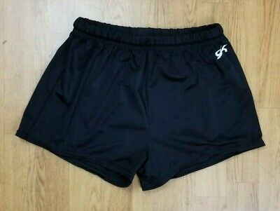 GK Elite Gymnastics Black Shorts Adult XL