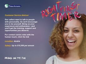 Customer Service Advisor - Ref 3541