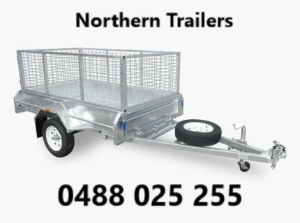 7x5 Single Axle Fully Welded Box Trailer