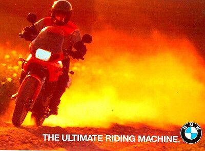 1996 BMW MOTORCYCLE BROCHURE -K1100LT-K1100RS-R1100GS-R1100RT-R1100R-R850-F650