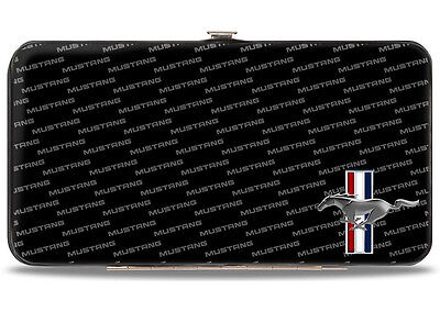 Ford Mustang logo hinged wallet tribar & text - great xmas gift for him or her!