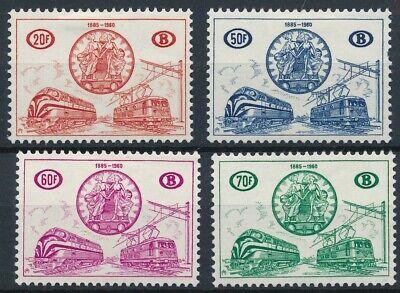 [2053] Belgium 1960 good Set very fine MH Railway Stamps Value $143
