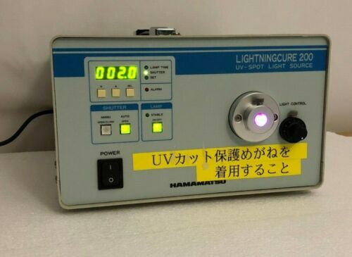 Hamamatsu Lightningcure 200 UV-Spot Light Source