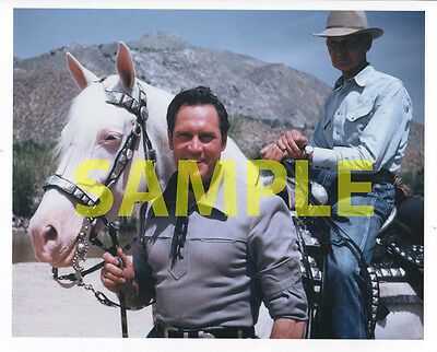 Clayton Moore, The Lone Ranger UNMASKED. Rare Photo, Beautiful 8X10 Color Print