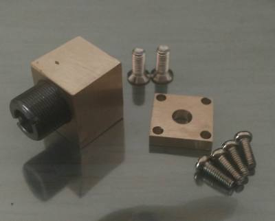 Brass Laser Diode Mounts 5.6mm Diode 405nm Purple With Coated Focus Glass Lens