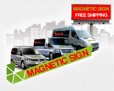 2- 18x24 Custom Full Color Printed Car Magnets Magnetic Auto Truck Signs