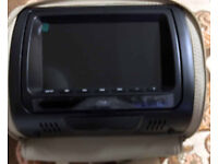 "2x In Car 7"" Headrest Twin Dual Monitor DVD Player, £85"