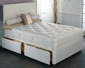 PRICES SLASHED BY 50%! AMAZING OFFER! Double Divan Base With FULL FOAM MATTRESS !!Same Day DeliverY