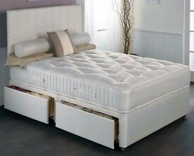 "❤ON SALE❤ New Double/Small Double or Kingsize Divan Bed w/ 10"" Ambassador Orthopaedic Mattress"