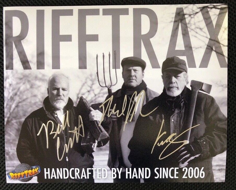 Купить Rifftrax- Autographed Photo by Mike, Kevin & Bill! HANDCRAFTED Version