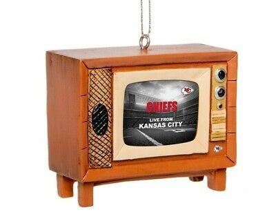 Kansas City Chiefs Christmas Tree Holiday Ornament New - Logo Nostalgia Retro TV ()