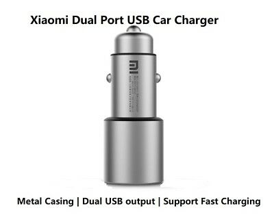 Original Xiaomi Dual port usb car charger 3.6A Max output in retail package ()
