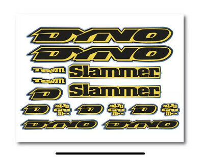 Dyno Slammer 1994  Decal Set Stickers old school BMX Restoration