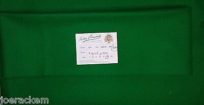 New Simonis 4000 English Green Snooker Cloth 10' Cut - True Directional Nap for sale  Springfield