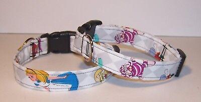 Dog In Alice In Wonderland (Wet Nose Designs Alice in Wonderland Dog Collar Cheshire Cat Mad Hatter)