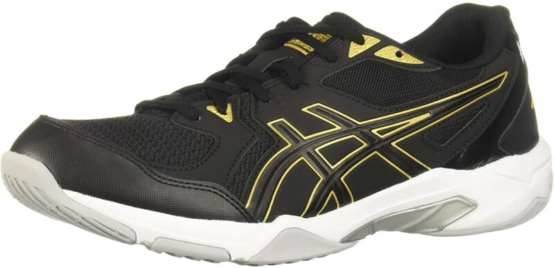 Asics Men`s Gel-rocket 10 Volleyball Shoes Black/Pure Gold