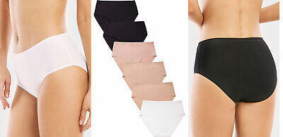 6 Pack of Womens Brief Underwear High-Rise Tagless Bikini Panties Clothing, Shoes & Accessories