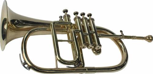AWESOME SALE Flugel Horn, Bb 4 Valve Brass