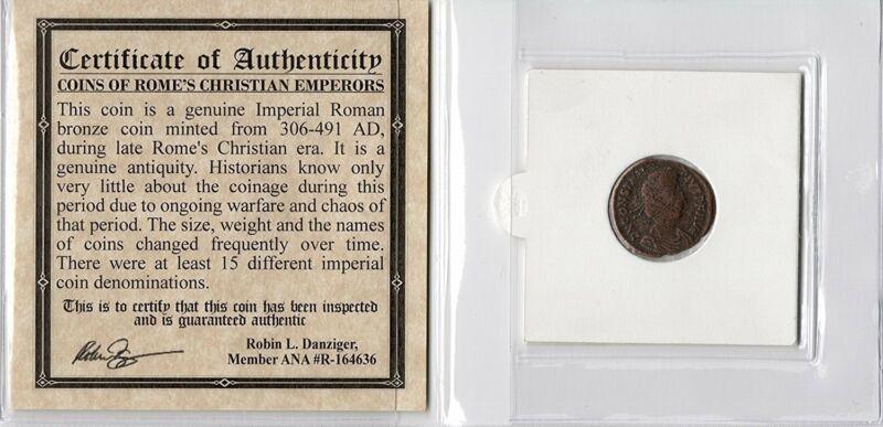 Constantius II Certified Authentic Ancient Roman Coin