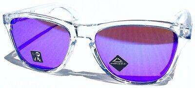 NEW* Oakley Frogskins Clear Crystal w Violet Iridium Sunglass oo9245 (Oakley Frogskins Violet)