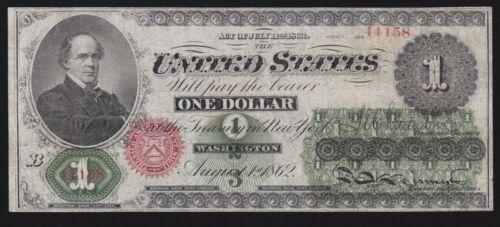 US $1 1862 Samuel Chase Legal Tender FR 16c  VF (158)