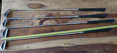 Set of 4 Wilsons Gear effect Irons 4, 7, 9 and Wedge Golf club Practice Range