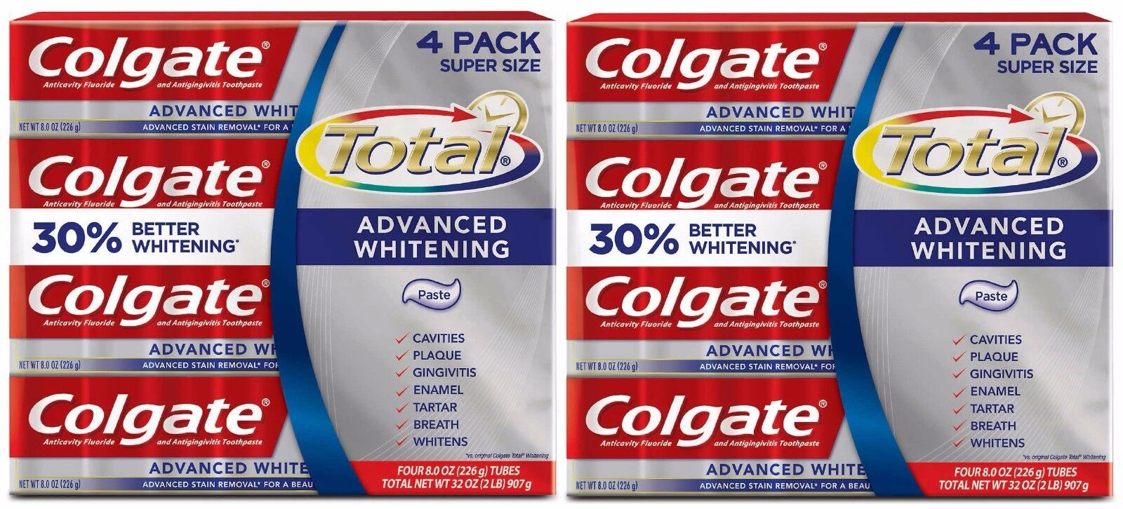 Colgate Mattress Total Advanced Whitening Toothpaste 8 Pa...