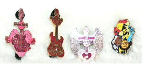 Pre-Owned Lot of 4 Hard Rock Cafe Pins