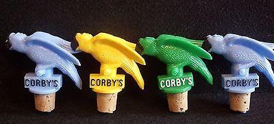 Corbys Whiskey Pouring Parrot Branch Spout Beak Stopper Pour Heads set 4 Buffett