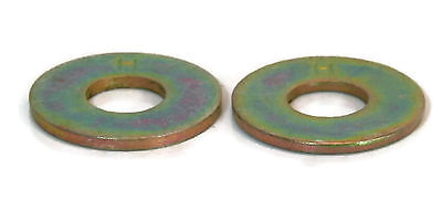 Flat Washers Extra Thick Grade 8 Yellow Zinc 1/4