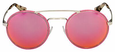 NWT Prada Sunglasses PR 51SS54-Z Pink/Silver Frame /Pink Mirror Lens