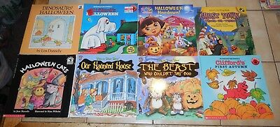 Halloween Themed Books (Lot of 10 Halloween Themed paper Books)