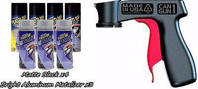 Performix Plasti Dip Wheel Kit 4 Black Bright Aluminum Metalizer 3 Cans V-grip
