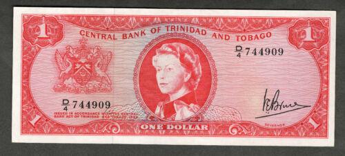 TRINIDAD AND TOBAGO 1964 $1 ONE DOLLAR NOTE P26c