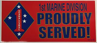 1st Marine Division Proudly Served! - 3