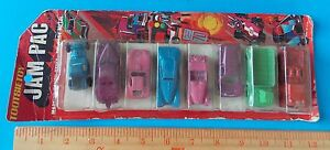 NEW! VINTAGE JAM PAC TOOTSIE TOY PACK OF 8 CARS AND TRUCKS! MADE IN USA!