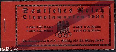Dt. Reich Olympische Spiele 1936** internationales Markenheftchen 42.2 (S8279)