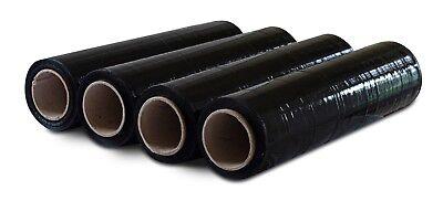 Pack Of America Stretch Film Black Shrink Wrap 18 X 1200 Ft 80 Gauge 4 Pack
