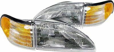 TIFFIN ALLEGRO BUS 1998 1999 2000 SET HEADLIGHTS CORNER LIGHTS LAMPS SIGNAL RV