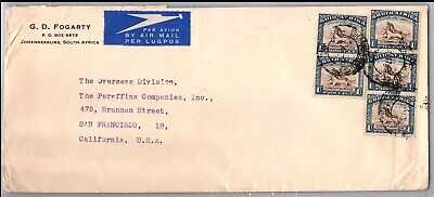 GP GOLDPATH: SOUTH AFRICA COVER 1947 AIR MAIL _CV676_P12