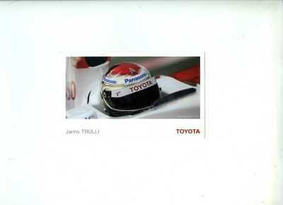 Jarno Trulli Toyota F1 2007 Official Team Issued Card