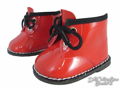 CHRISTMAS Red Patent Booties Boots for 18