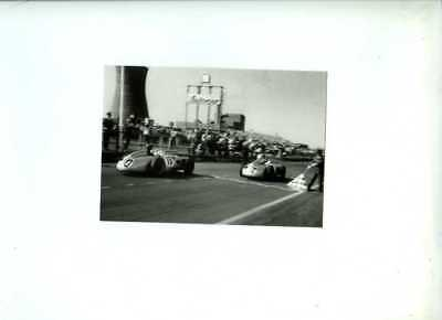 Moss & Fangio Mercedes-Benz W196 British Grand Prix 1955 Postcard