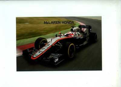 McLaren MP4-30 F1 Car 2015 Official Team Issued Card