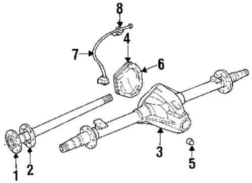Dodge 3500 Front Axle Diagram : Dodge ram rear differential diagram